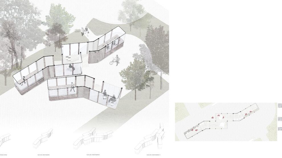A 30 grados. Mobiliario urbano para uso público