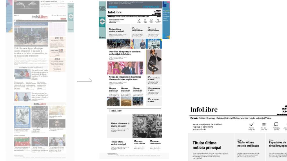 Rediseño web de Infolibre
